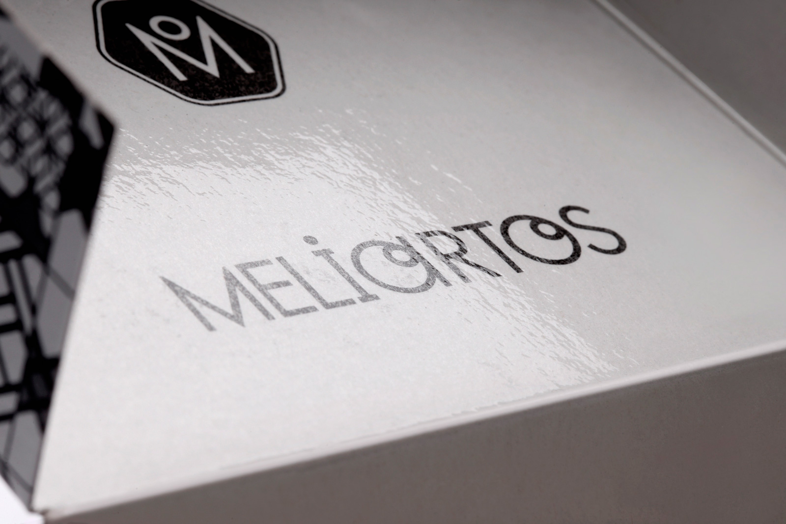 Meliartos Brand Identity Packaging box detail