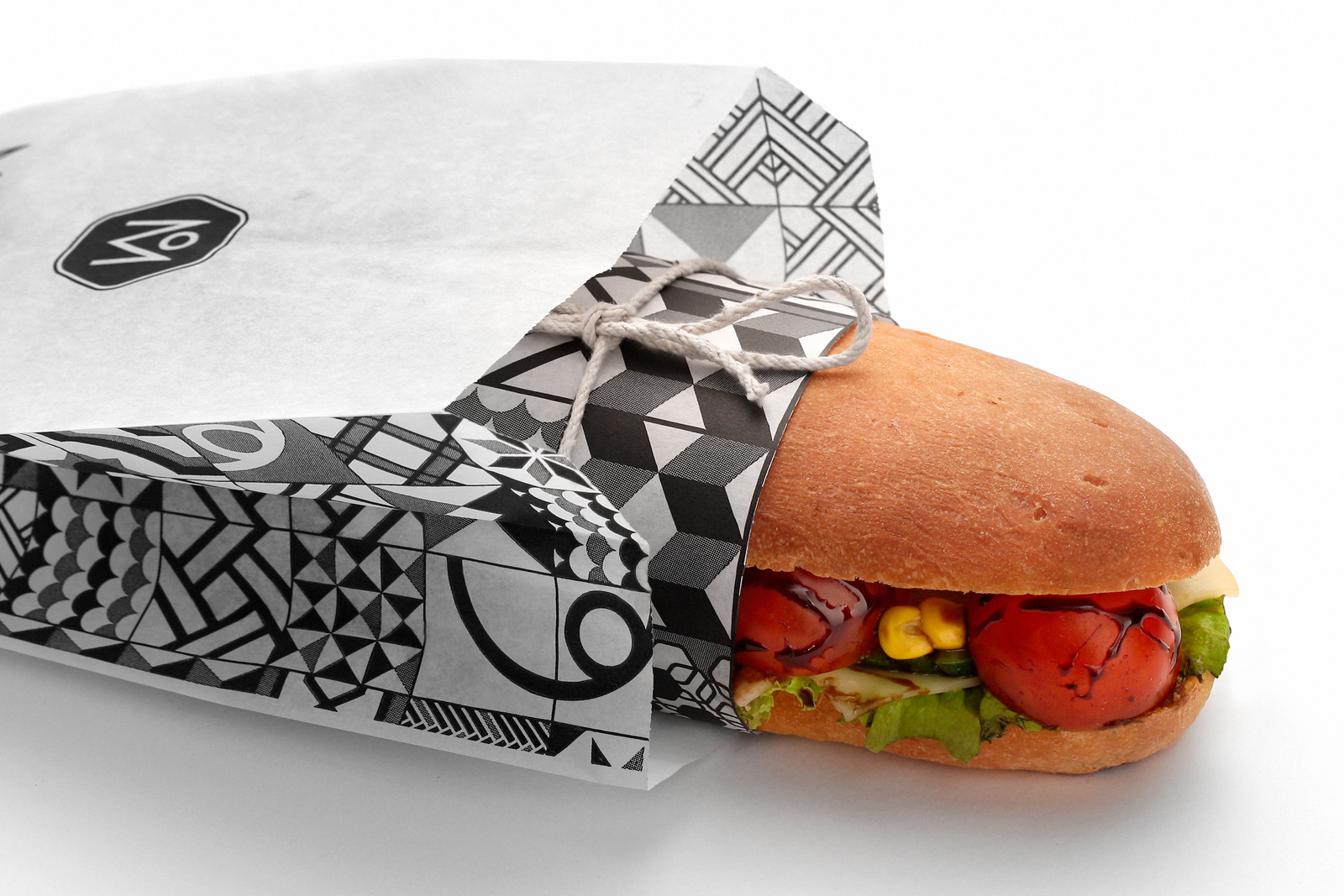Meliartos Brand Identity Packaging bag sandwich