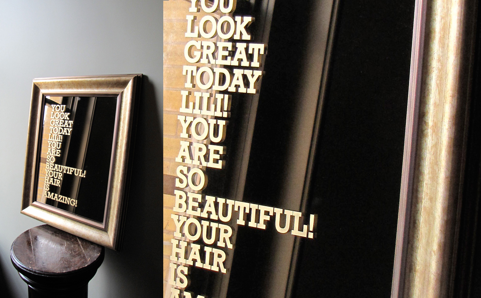 personalized mirror