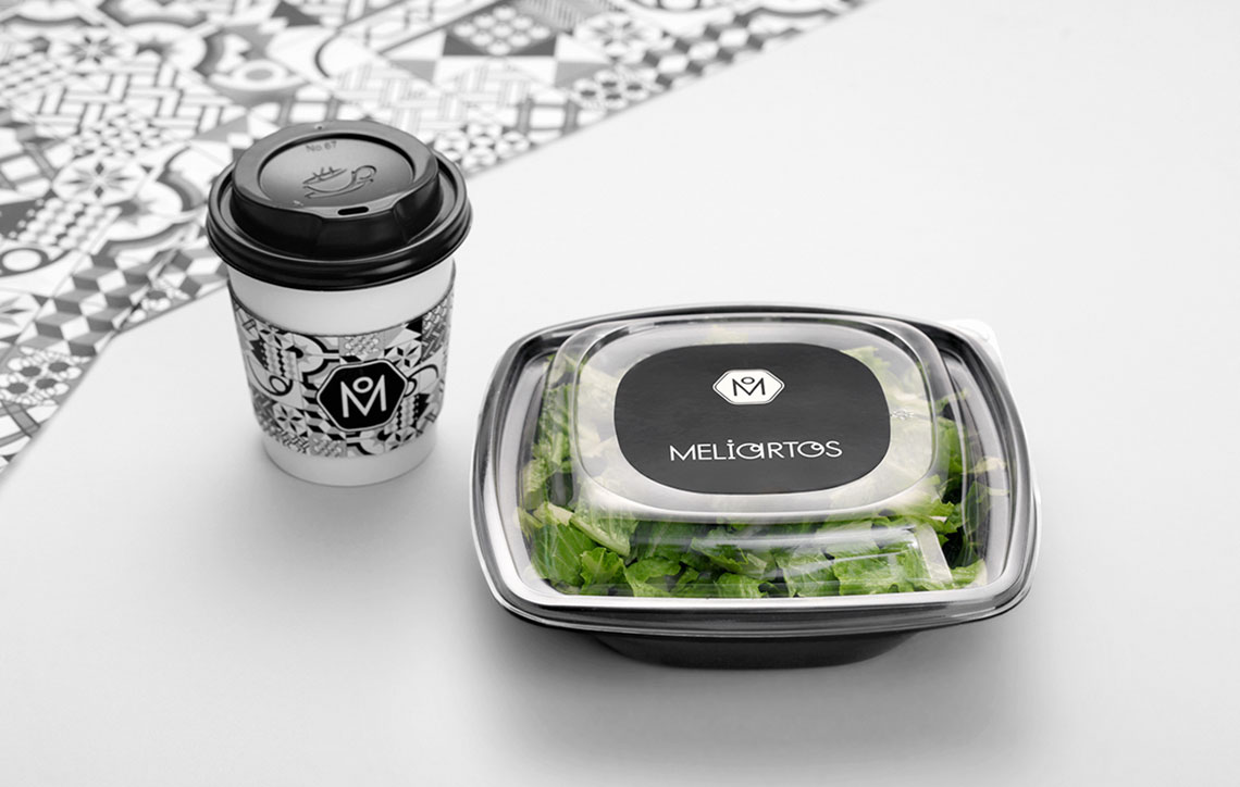Meliartos Brand Identity Packaging salad coffee