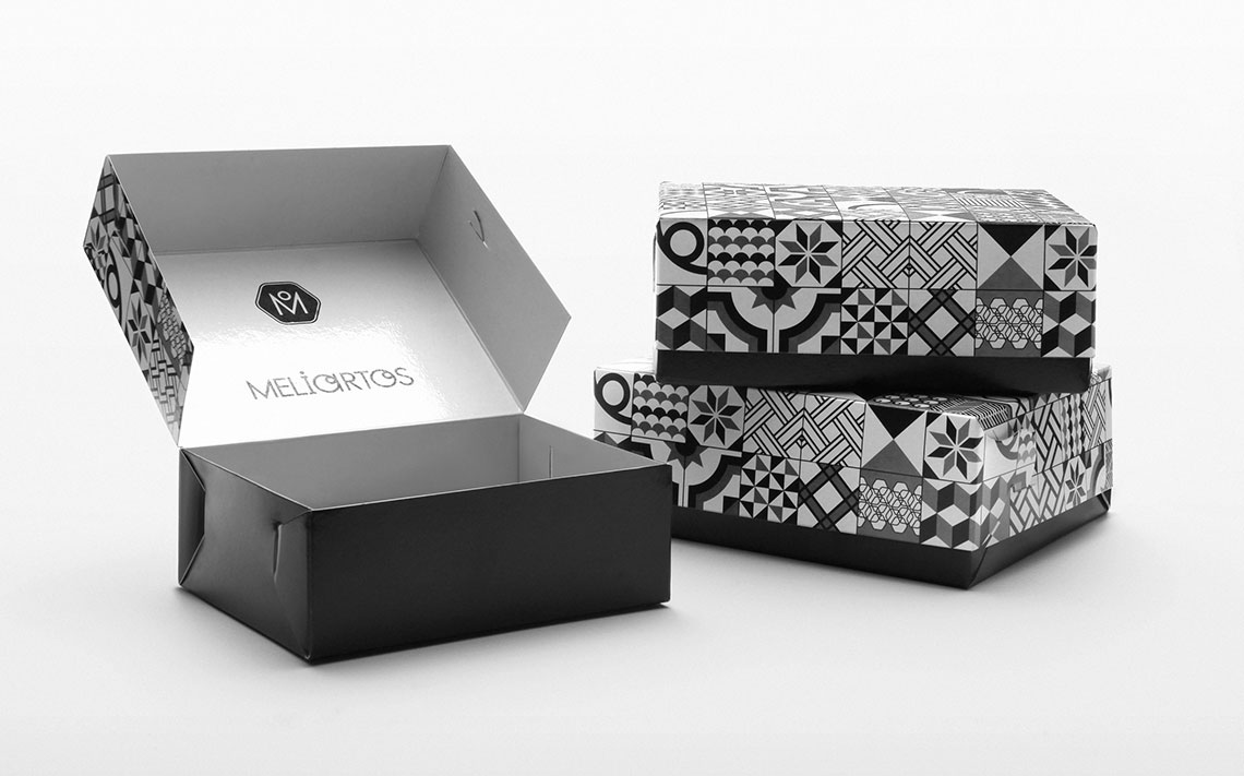 Meliartos Brand Identity Packaging Boxes